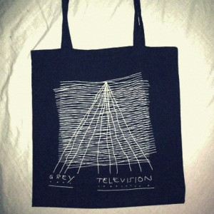 Grey Television Merchandise bag