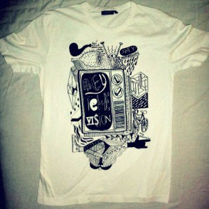 Grey Television Merchandise T-shirt #2